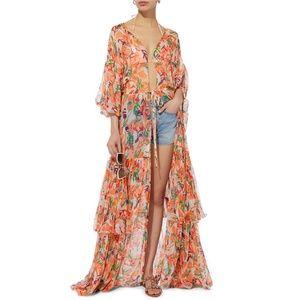 Saloni Nikki Collage Maxi Dress Duster x Intermix